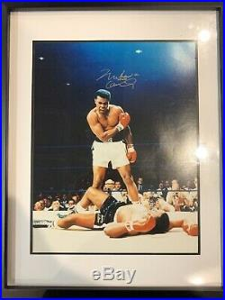 Muhammad Ali and Cassius Clay Signed Autograph 11x14 Framed