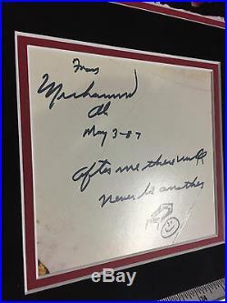 Muhammad Ali signed framed photo PSA/DNA JSA BAS autographed large inscription