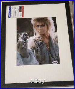 Music Icon David Bowie signed 8x10 Photo PSA DNA (Framed) Ziggy Stardust