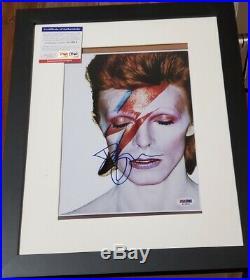 Music Legend David Bowie signed 8x10 Photo PSA DNA (Framed) Ziggy Stardust