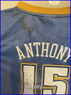 NBA Denver Nuggets Carmelo Anthony Signed Jersey, Picture, and Card Fully framed