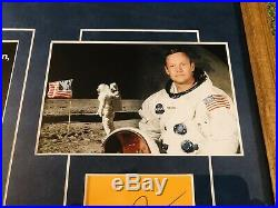NEIL ARMSTRONG Signed (JSA LETTER) Autograph APOLLO 11 Framed Photo psa bas
