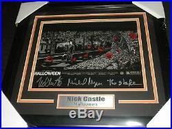 NICK CASTLE Signed 10x13 Photo FRAMED Michael Myers Shape Halloween Autograph