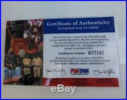 N. E. Patriots Tom Brady Signed Snow Bowl 8x10 Photo Framed & Double Matted PSA
