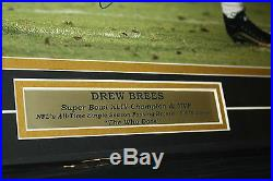 New Orleans Saints Drew Brees Signed Framed 16x20 Photo Sb Mvp Jsa Certified
