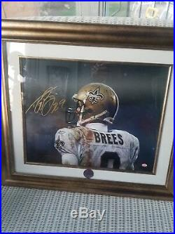New Orleans Saints Drew Brees Signed Framed 16x20 Photo Sb Mvp Sgc#au54889