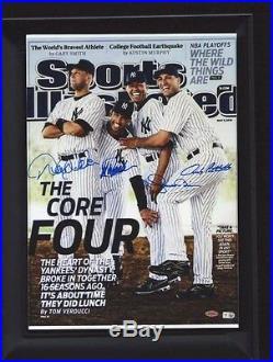 New York Yankees Core Four SI, Signed RP Framed Jeter, Rivera, Posada, Pettitte