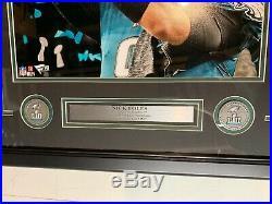 Nick Foles Autograph Signed Eagles Super Bowl LII Trophy 16x20 Framed Fanatics