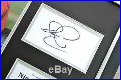 Nigel Mansell Signed Photo Framed 16x12 F1 Autograph Memorabilia Display + COA