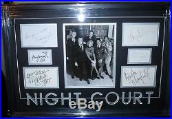 Night Court Signed Framed Cast Psa/dna Harry Anderson, John Larroquette