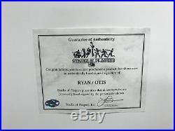 Nolan Ryan Amos Otis (1st NO Hitter) Signed Autograph 16x20 Custom Framed Photo