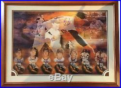 Nolan Ryan Signed Framed 35x45 7 No Hitters Photo 8 auto INS LE /347 MM