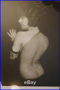 Original 1907 Signed ALFRED CHENEY JOHNSTON PHOTO Dbl Black Lacquer Frame NUDE