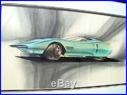 Original Catallo Concept Car 2 Door 1960s Framed Art Piece Picture Signed 1967