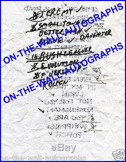 PEARL JAM HAND SIGNED FRAMED PHOTO X5 + HAND WRITTEN 2003 SETLIST! RARE With PROOF