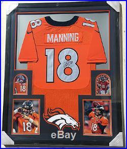 PSA/DNA Denver Broncos PEYTON MANNING Signed Autographed FRAMED Football Jersey