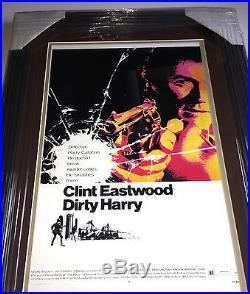 PSA/DNA Dirty Harry CLINT EASTWOOD Signed Autographed FRAMED Movie Photo Poster