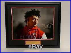 Patrick Mahomes Kansas City Chiefs FRAMED Signed/Autographed 16x20 Photo COA #4