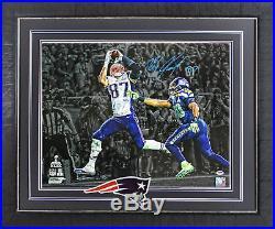 Patriots Rob Gronkowski Signed & Framed SB XLIX Horizontal 16X20 Photo PSA/DNA