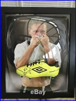 Paul Gazza Gascoigne Signed Framed Domed Football Boot England With COA & Photo