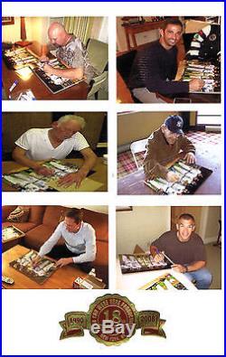 Perfect Game Yankees Signed Framed 16x20 photo Larsen Berra posada 6 auto Coa