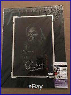Peter Mayhew signed 11x17 Photo W Matting JSA COA Ready To Frame Star Wars