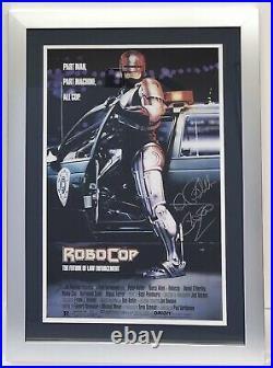 Peter Weller Robocop Poster Signed Autograph Photo Framed 12x18 Signature