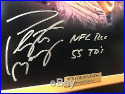 Peyton Manning Signed Broncos 20x24 Framed Photo Inscribed COA Fanatic Autograph
