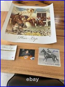 Phar Lap Signed Jack Baker Photo with a Limited Edition Print all ready to frame