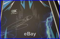 Phil The Power Taylor SIGNED FRAMED Shirt Photo Autograph Darts Sport AFTAL COA