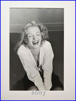 Philippe Halsman -Marilyn Monroe laughing-1949 Silver Gelatin photograph-Signed