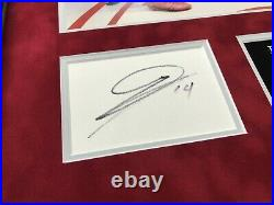 Pierre-Emerick Aubameyang & Alexandre Lacazette SIGNED FRAMED Photo Mount FA CUP
