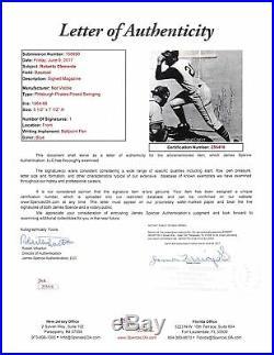 Pirates Roberto Clemente Authentic Signed Framed 6x8 Magazine Photo JSA #Z55416