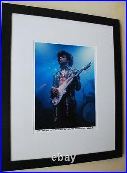 Prince Purple Rain tour 1985 LA Forum RARE fine art photo framed signed # 53/100