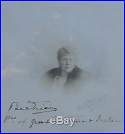 Princess Beatrice Signed Royal Presentation Photo Frame Daughter Queen Victoria