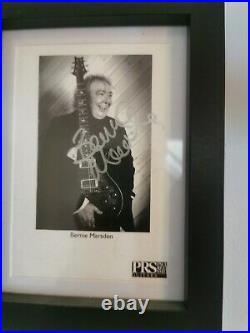 Prs Se Bernie Marsden 2011 Signed By The Man Himself. Inc framed signed photo