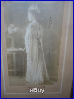 Queen Alexandra in Court Dress Signed Presentation Photo & Frame
