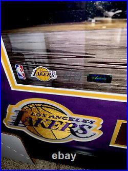 RARE Kobe Bryant History LE 24 Panini Signed Framed Lakers UDA Mamba 81 Pt Gm