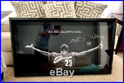 RARE Lebron James Signed Framed Nike WITNESS Photo UDA LE 23 Upper Deck Auto