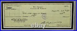 ROD SERLING Signed Check Autograph FRAMED THE TWILIGHT ZONE JSA LOA
