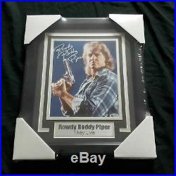 ROWDY RODDY PIPER Signed THEY LIVE 8x10 Photo FRAMED Autograph BAS BECKETT COA A