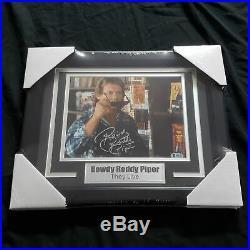 ROWDY RODDY PIPER Signed THEY LIVE 8x10 Photo FRAMED Autograph BAS BECKETT COA B
