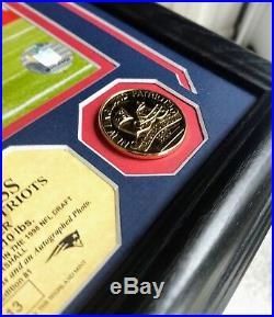 Randy Moss Signed Photo Mint Auto New England Patriots Highland Rare 13/81 Frame