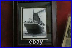 Rare Authentic 1912 Titanic Framed Signed Photo By The Last Living Survivor