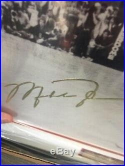 Rare- MICHAEL JORDAN-UNC Signed UPPER DECK POSTER-FRAMED 20x16