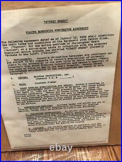Rare Original 1986 Christopher Reeve Signed Contract Psa/dna Framed Beautiful