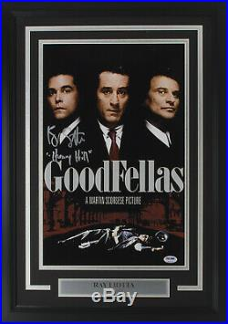 Ray Liotta Signed Framed Goodfellas 11x17 Henry Hill Movie Poster Photo Insc PSA