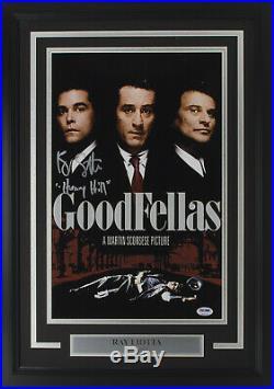 Ray Liotta Signed Framed Goodfellas 11x17 Henry Hill Movie Poster Photo Insc PSA