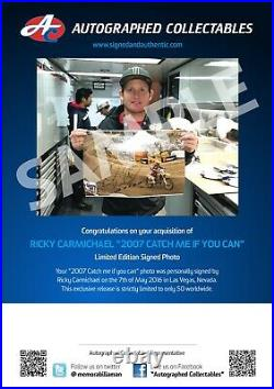 Ricky Carmichael Hand Signed Limited Edition Framed Photo Catch Me