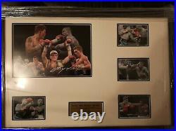 Ricky Hatton Signed Ltd Edition Framed Picture Memorabilia
